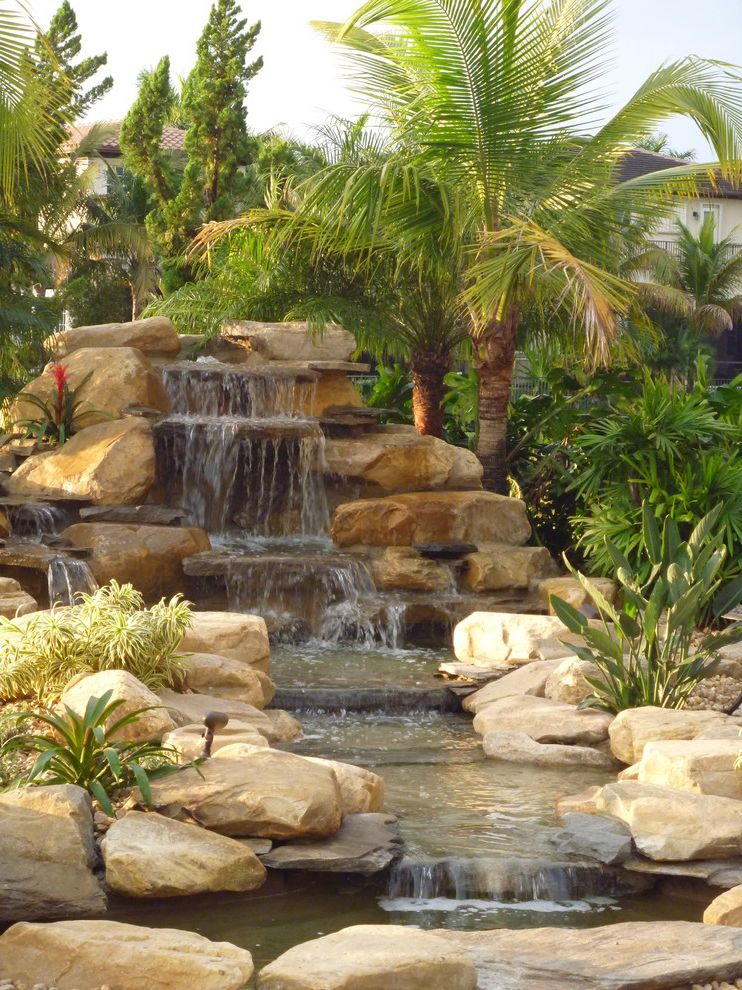 Waterfalls in Florida with Traditional Landscape Also Garden Pond Pond Ponds Stream Water Garden Waterfall Waterfall Pond Waterfalls