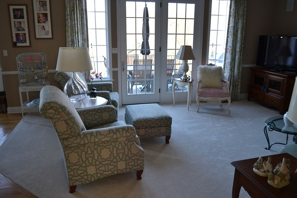 Waugh and Allen    Living Room  and Ethan Allen Pattern Chairs