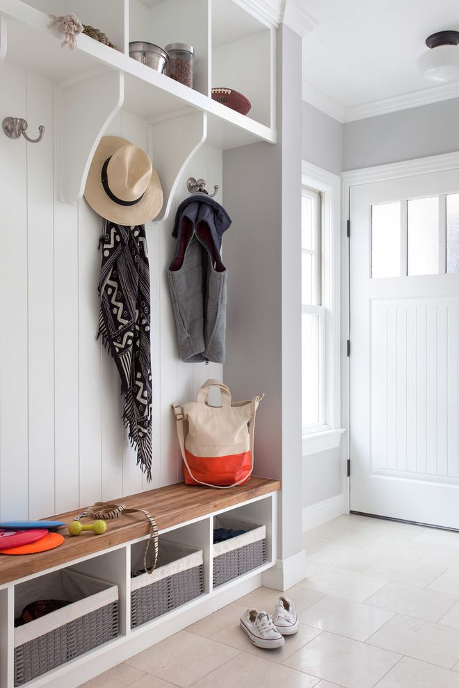 Wayfair Return Policy with Traditional Entry  and Addition Austin Bryker Woods Coat Hooks Grey Interior Marble Countertop Natural Light Oak Floor Renovation Simplicity Transitional