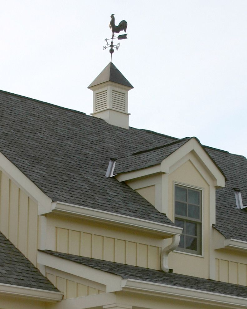 Weathervanes of Maine with Traditional Exterior Also Board Batten Cupola Dormer Farm House