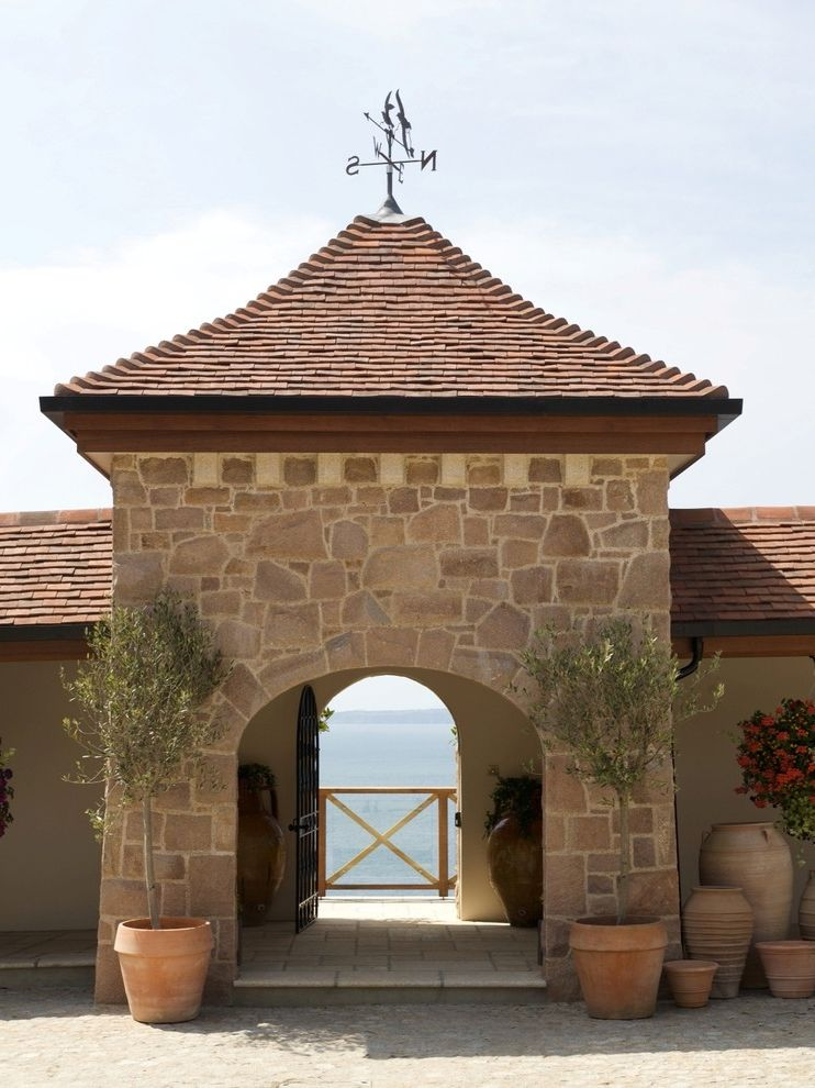 Weathervanes of Maine with Traditional Exterior  and Arch Olive Trees Pigeonniere Planters View Water View Weathervane