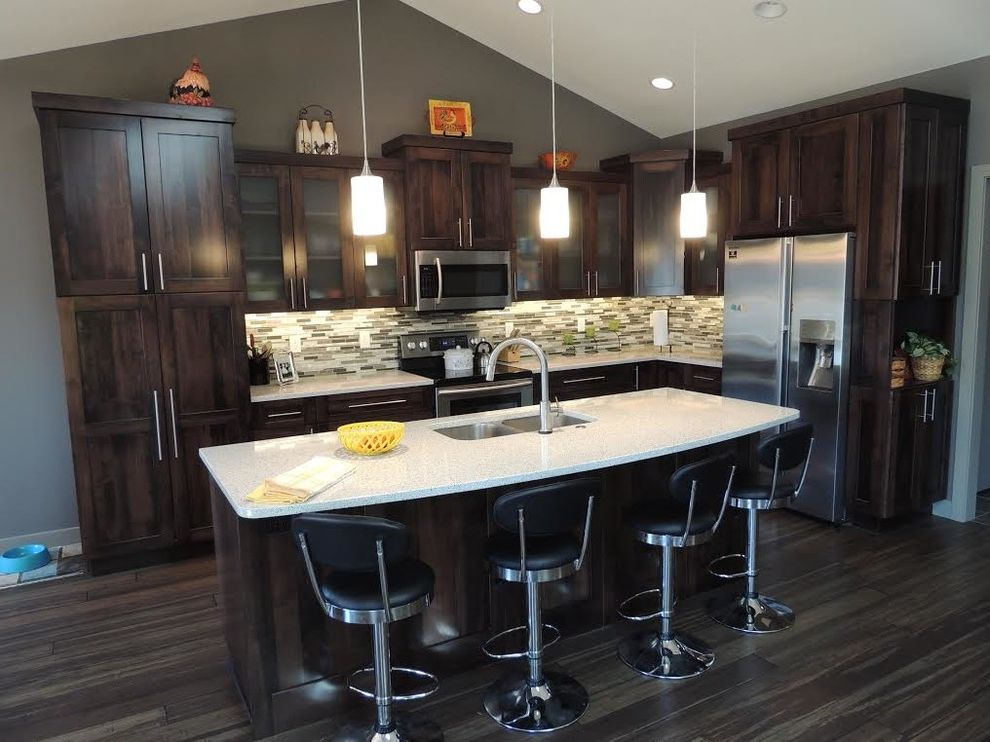 What Colors Go with Gray   Transitional Kitchen Also Transitional