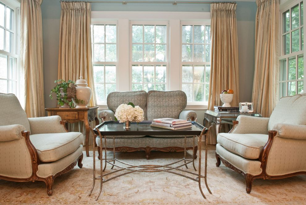 What Colors Make Blue   Traditional Living Room  and Area Rug Arm Chairs Coffee Table French Window Loveseat Side Tables Sofa Sunroom Window Treatment
