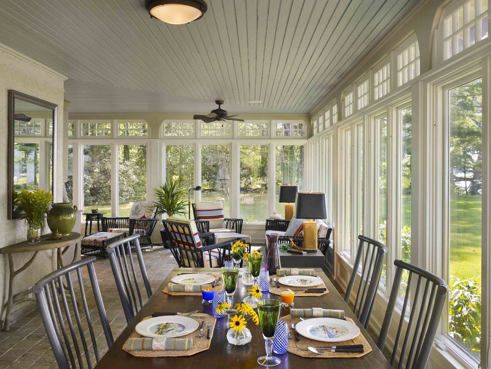 What is a Casement Window   Traditional Porch Also Glass Porch Sun Room