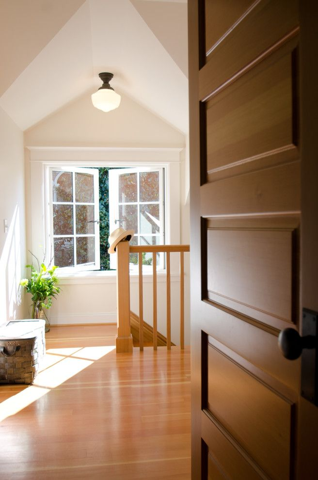 What is a Casement Window with Traditional Hall  and French Casement Wood Windows Schoolhouse Light Fixture