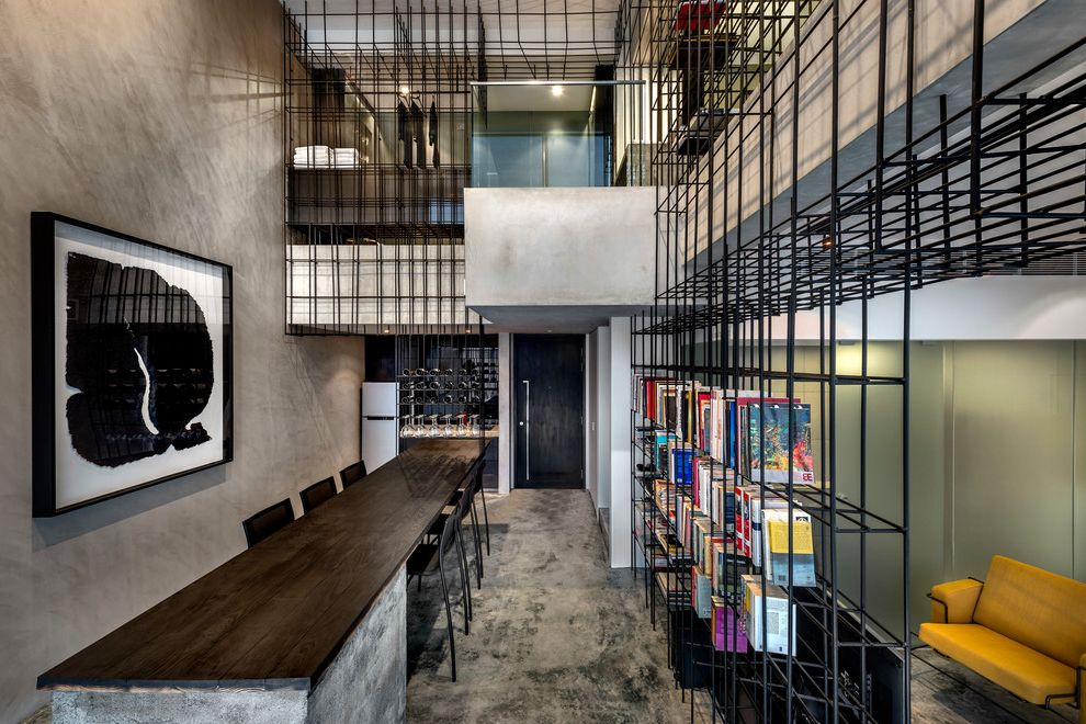 What is a Loft Apartment with Contemporary Dining Room Also Architecture Art House Contemporary Apartment Contemporary Design Existence Imperfections Loft Apartment Modern Apartment Produce Singapore