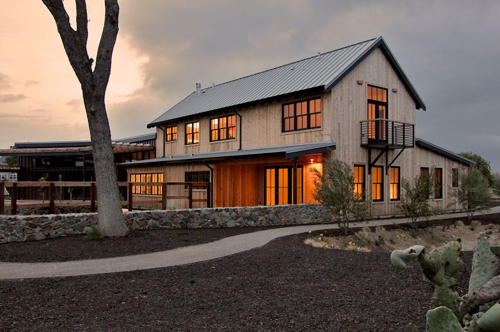 What Is A Pole Barn Transitional Exterior And Balcony Barn