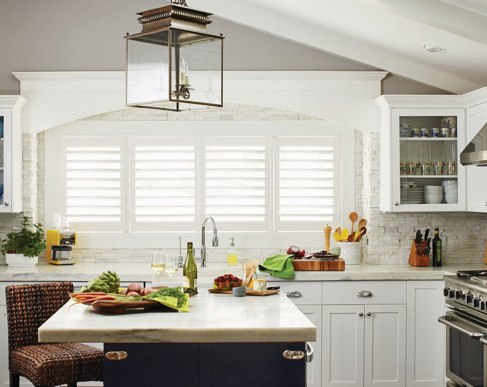 White Plantation Shutters For The Kitchen $style In $location