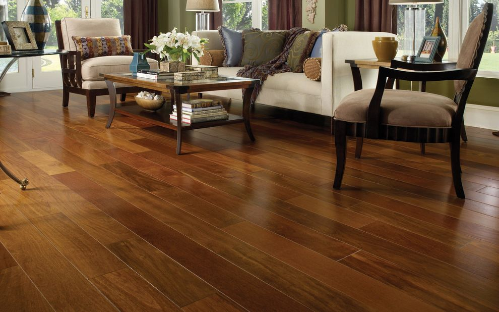 What is Engineered Hardwood with Contemporary Living Room  and Contemporary