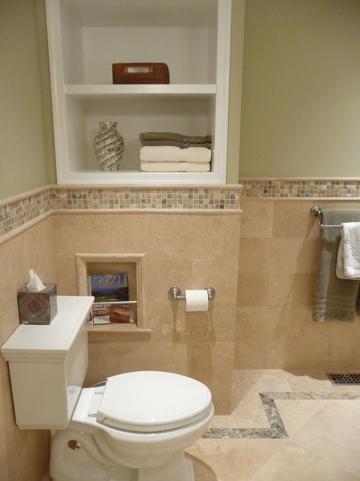 What is Travertine Tile   Traditional Bathroom Also Alcove Inlay Magazine Mosaic Shelving Tile Towel Travertine