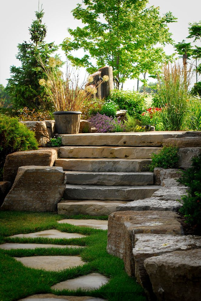 Where to Buy Stepping Stones with Traditional Landscape Also Colorful Garden Landscaping Lush Stone Pavers Stone Steps