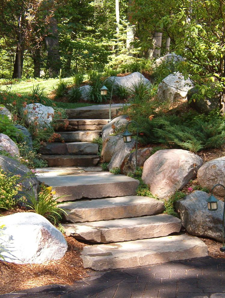 Where to Buy Stepping Stones with Traditional Landscape Also Landscape Design Natural Outdoor Lighting Stone Steps