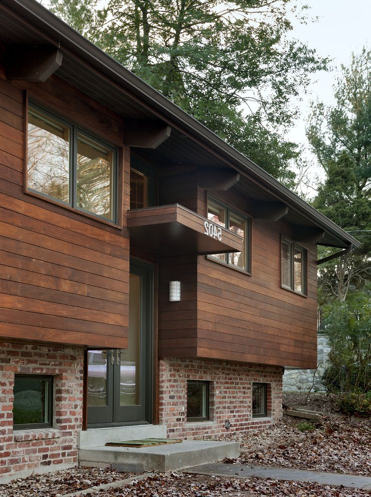Which Way is Horizontal with Contemporary Exterior Also Brick Brick ...