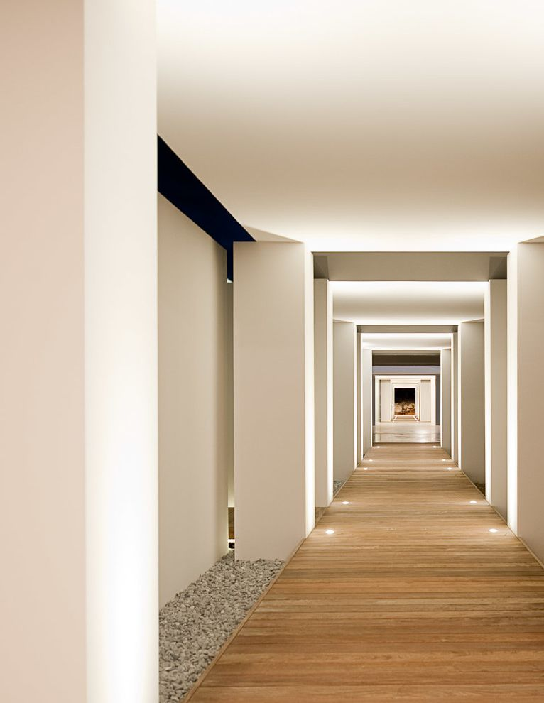 Which Way is Horizontal   Tropical Hall Also Architect Architecte Architecture Barthelemy Barths Barts Caribbean Columns Contemporary Covered Walkway Deck French Indies Leese Pecard Tropical Uplighting Villa West