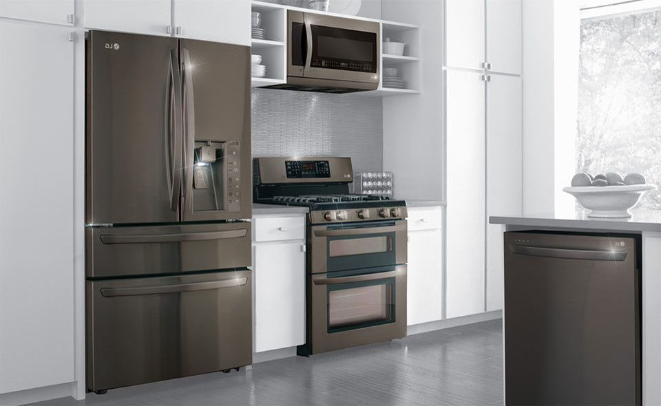 Whirlpool Double Oven Troubleshooting    Spaces  and Black Stainless Steel Finish Dishwashers French Door Refrigerator Gas Range Double Oven Lg Appliances