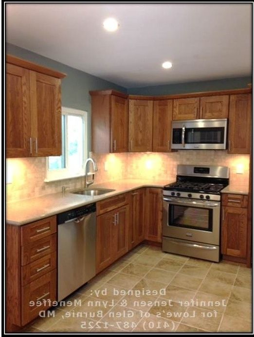 Whirlpool Otr Microwave   Transitional Spaces  and Backsplash Before and After Kitchen Honey and Teal Kitchen Kitchen Ideas Kitchen Remodel Lowes Kitchen Quartz Countertop Shenandoah Cabinets Transitional Kitchen Valspar Paint