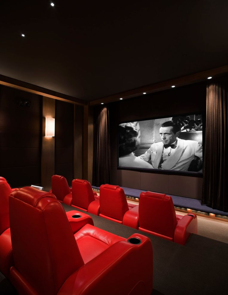 Wichita Ks Theater with Contemporary Home Theater Also Architectural Design Architecture Contemporary Design Ffe Furniture Home Theater Interior Landscape Lighting Design Material Selection Modern Movie Red Armchairs Theater Theatre