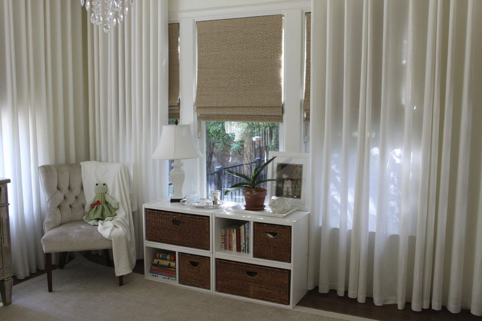 Window Blinds at Home Depot   Traditional Spaces Also Area Rug Bedroom Bookcase Cubbies Curtains Dark Floor Drapes Monochromatic Nursery Roman Shades Storage Baskets Tablescape Toy Storage Tufted Chair Wicker Baskets Window Sheers Window Treatments