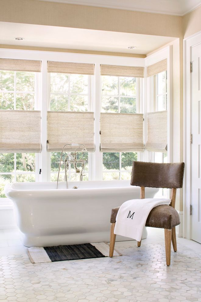 Window Blinds At Home Depot Transitional Bathroom And Bamboo Roller Shades  Bathroom Florida Florida Home Home