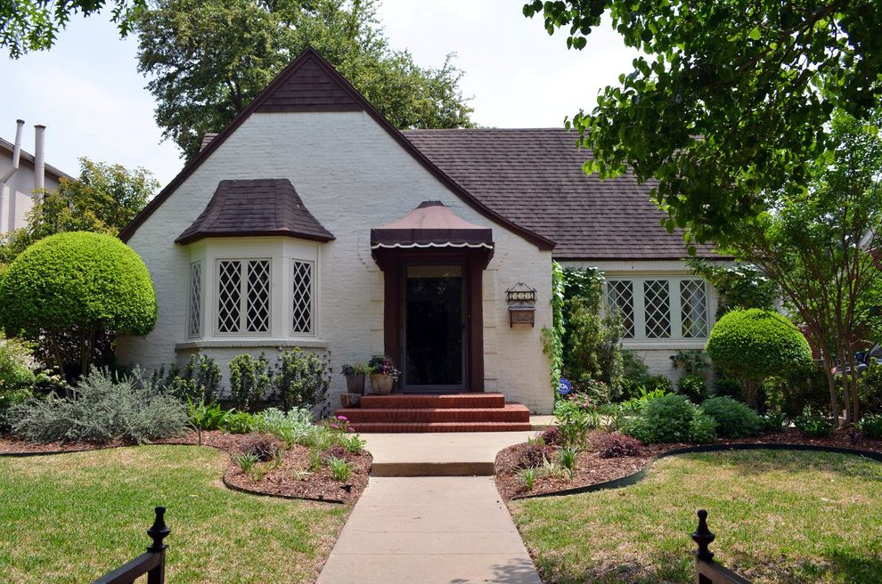 Window Replacement Fort Worth with Traditional Exterior Also Cottage English Garden Grass Lattice Lawn Peaked Roof Steps