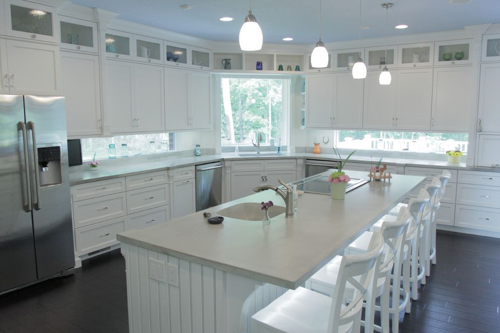 Window Tinting Fort Wayne with Contemporary Kitchen  and Cabinets by Graber Concrete Countertop Fort Wayne Dancer Concrete Fort Wayne Kitchen Kitchen Design