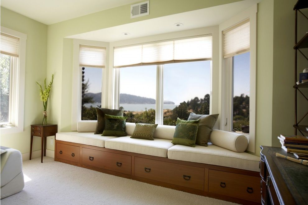 Windows With Built In Blinds Contemporary Living Room And Alcove