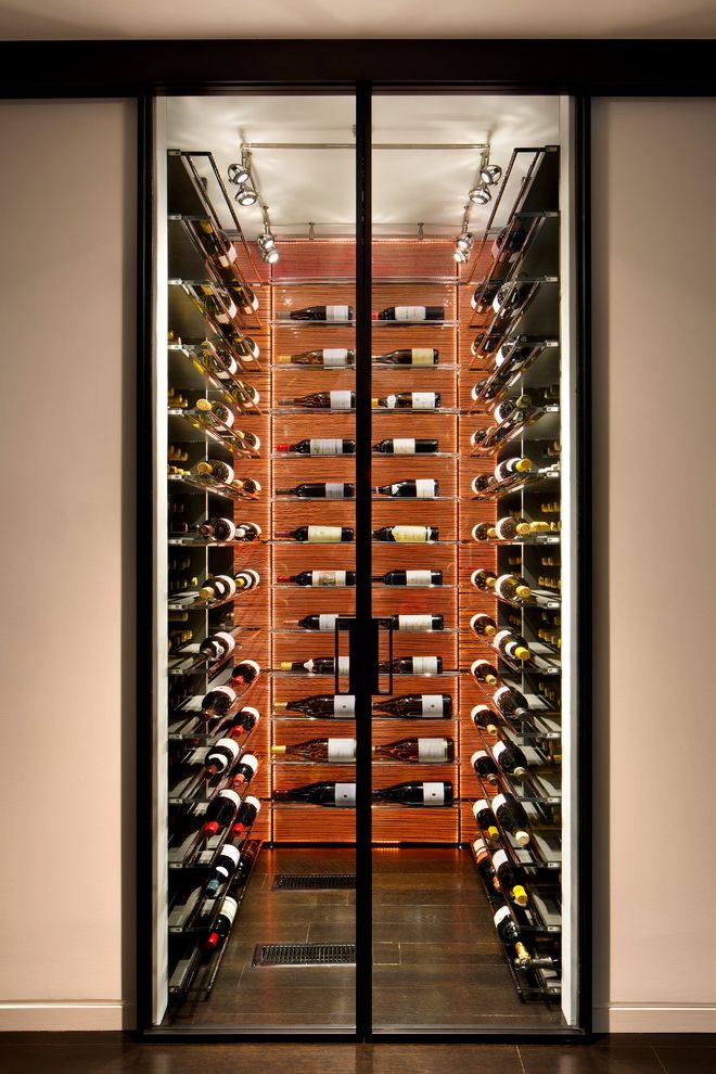 Wine and Design Richmond Va with Contemporary Wine Cellar Also Floor to Ceiling Metal Wine Rack Track Lighting Wall to Wall