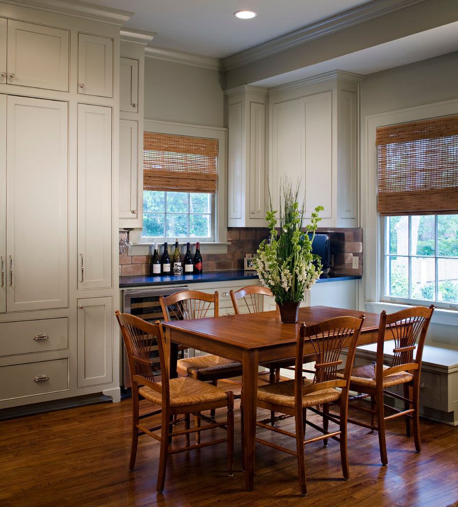 Wine Refrigerator Small with Traditional Dining Room Also Baton Rouge Built in Bench Colonial Crown Molding Large Cabinets Louisiana Revived Colonial Window Sitting Area Wine Refrigerator Wood Floors