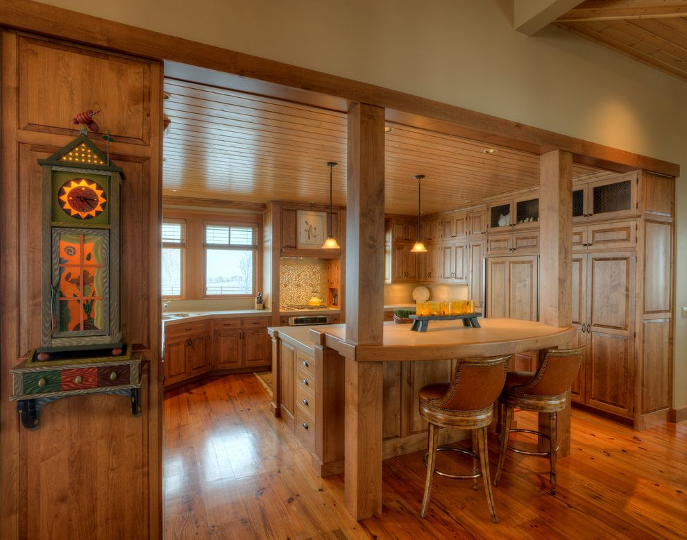 Wood Columns for Sale   Farmhouse Kitchen Also Chair Back Bar Stools Chicken Wire Cabinet Chicken Wire Cabinets Kitchen Kitchen Island Rustic Wood Floor Small Pendant Lights Wood Ceiling Wood Countertop Wood Floor Wood Kitchen Cabinets Wood Posts