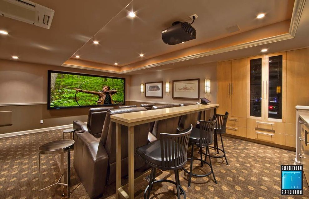 Woodinville Theater   Traditional Home Theater  and Traditional