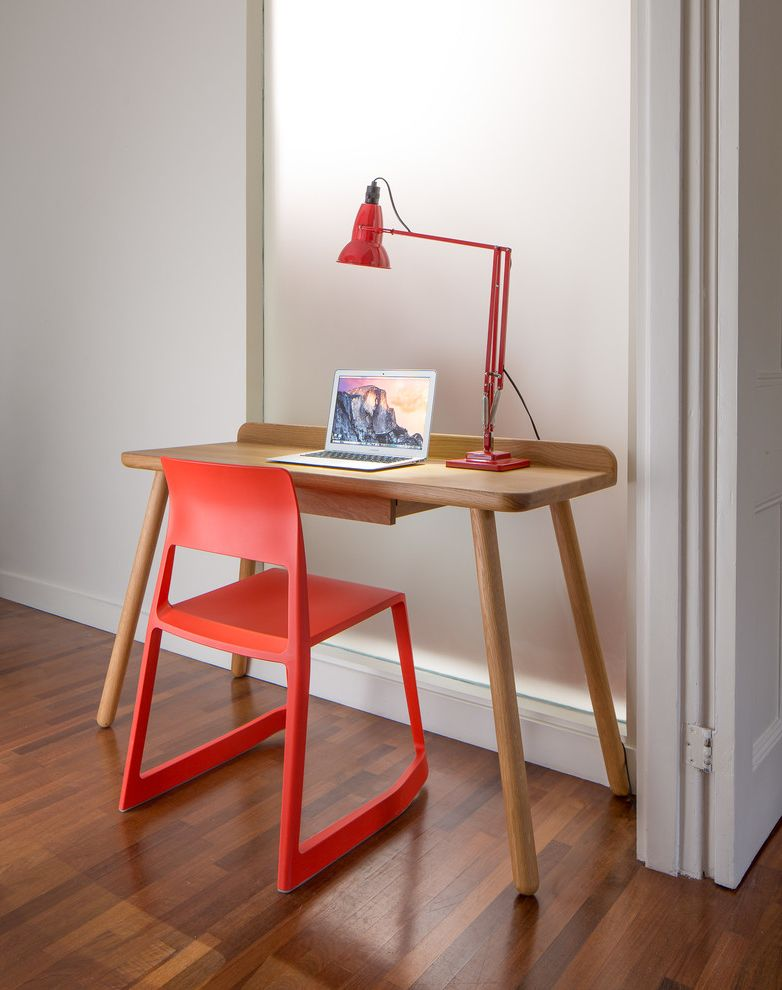 Woodlands of College Station with Transitional Home Office  and Anglepoise Desk Kids Desk Red Chair Red Table Lamp Small Desk Study Desk Vitra Work Station
