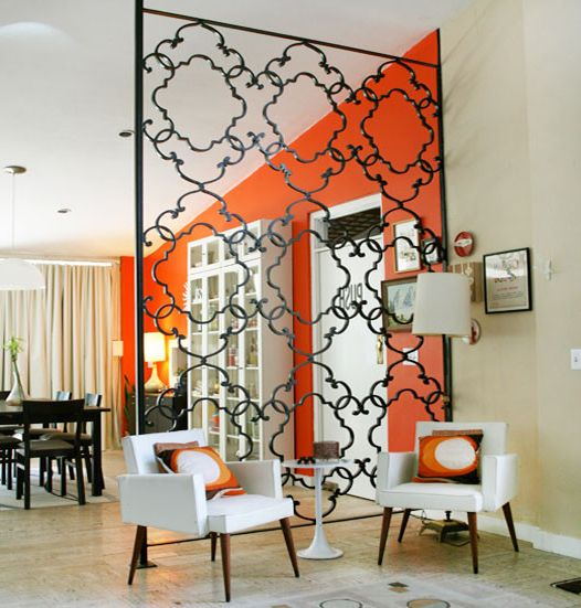 Wrought Iron Room Divider with Contemporary Entry Also Contemporary