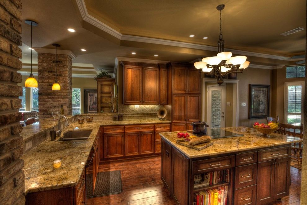 Www Arizonatile Com   Traditional Kitchen Also Cabinets Counter Curb Appeal Renovations Floor Granite Island Lighting Wood