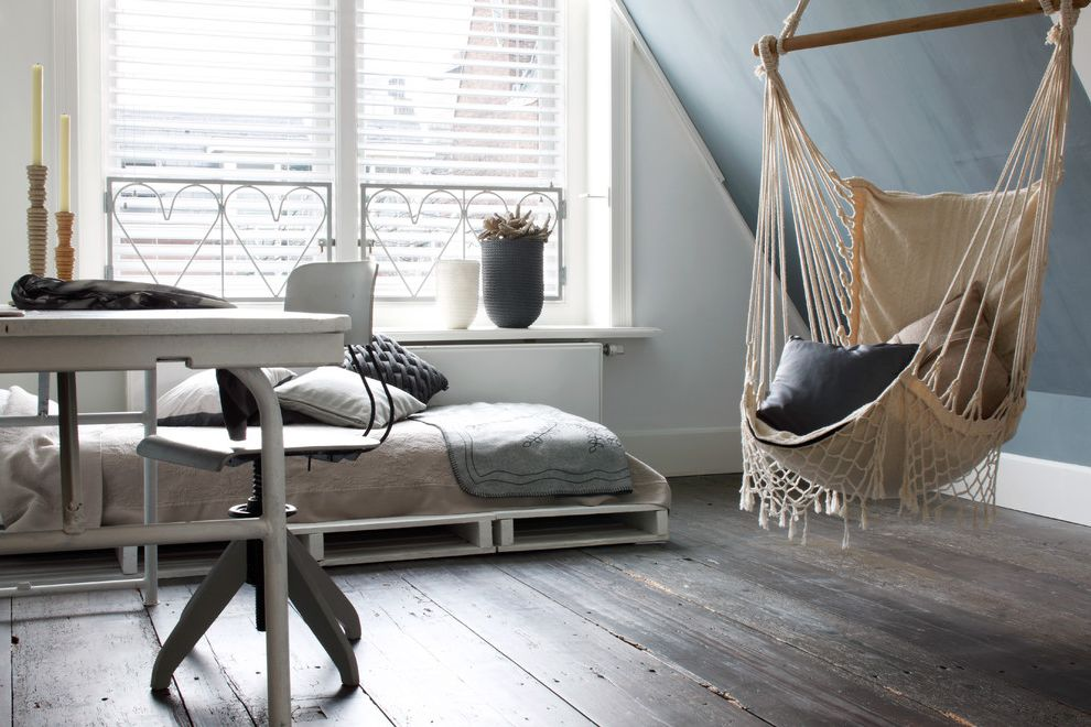 Www Hgtv Dreamhome with Eclectic Bedroom  and Bedding Blinds Butterfly Blinds Candle Sticks Desk Hammock Pillows Potted Plants Shades White Blinds Window Blinds Window Coverings Window Treatments