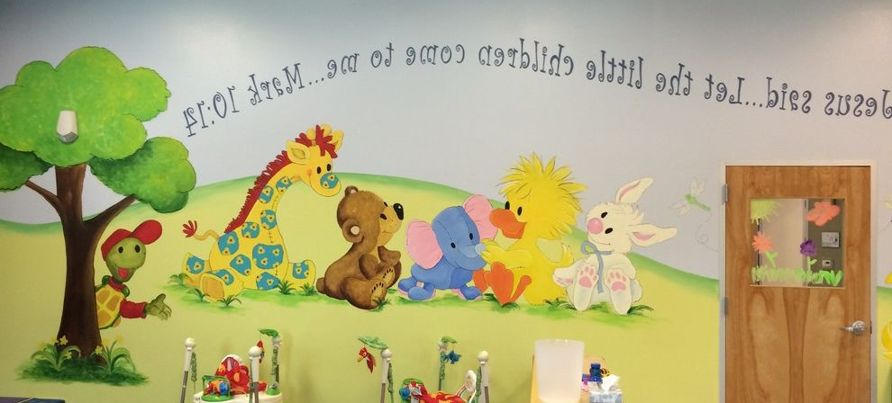 Ymca Braundera with Traditional Kids  and Cartoon Mural Scripture Ymca