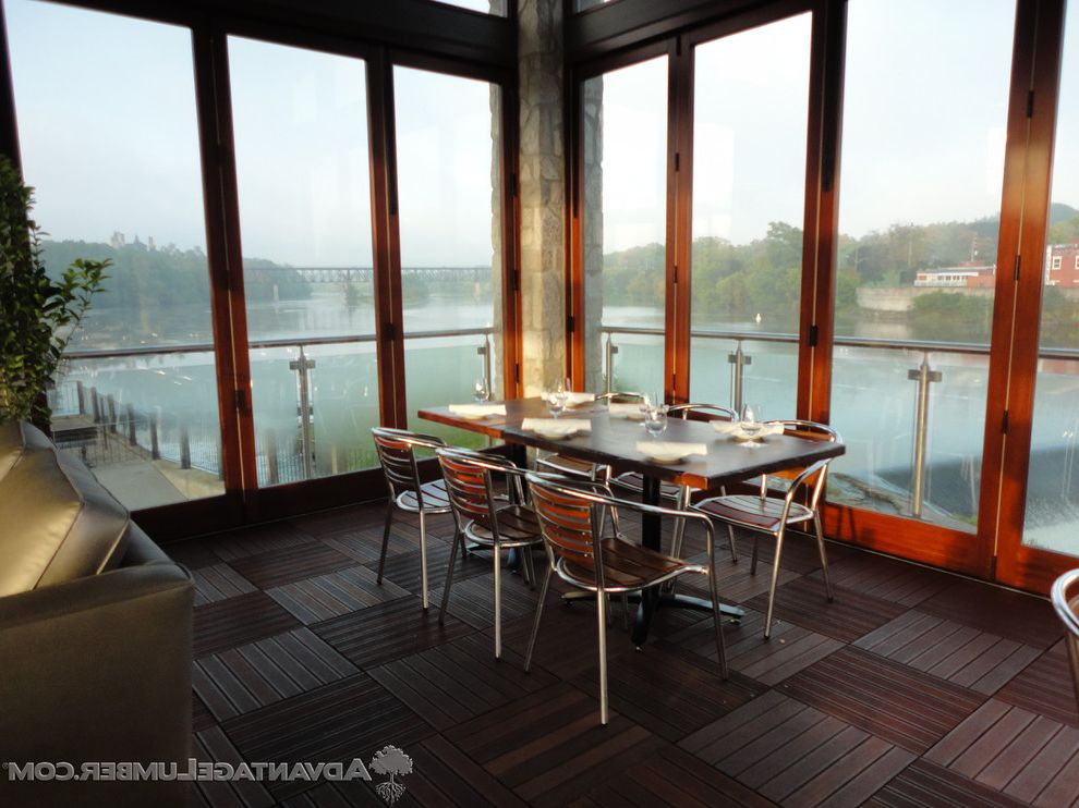 Advantagelumber Com with Modern Dining Room  and Deck Tiles Dining Room Hardwood Patio