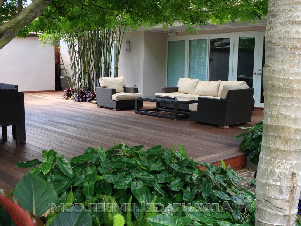 Advantagelumber Com with Tropical Deck  and Decking Exotic Lumber Ipe Ipe Decks Modern Ipe Deck Outdoor Living Tropical Theme Deck