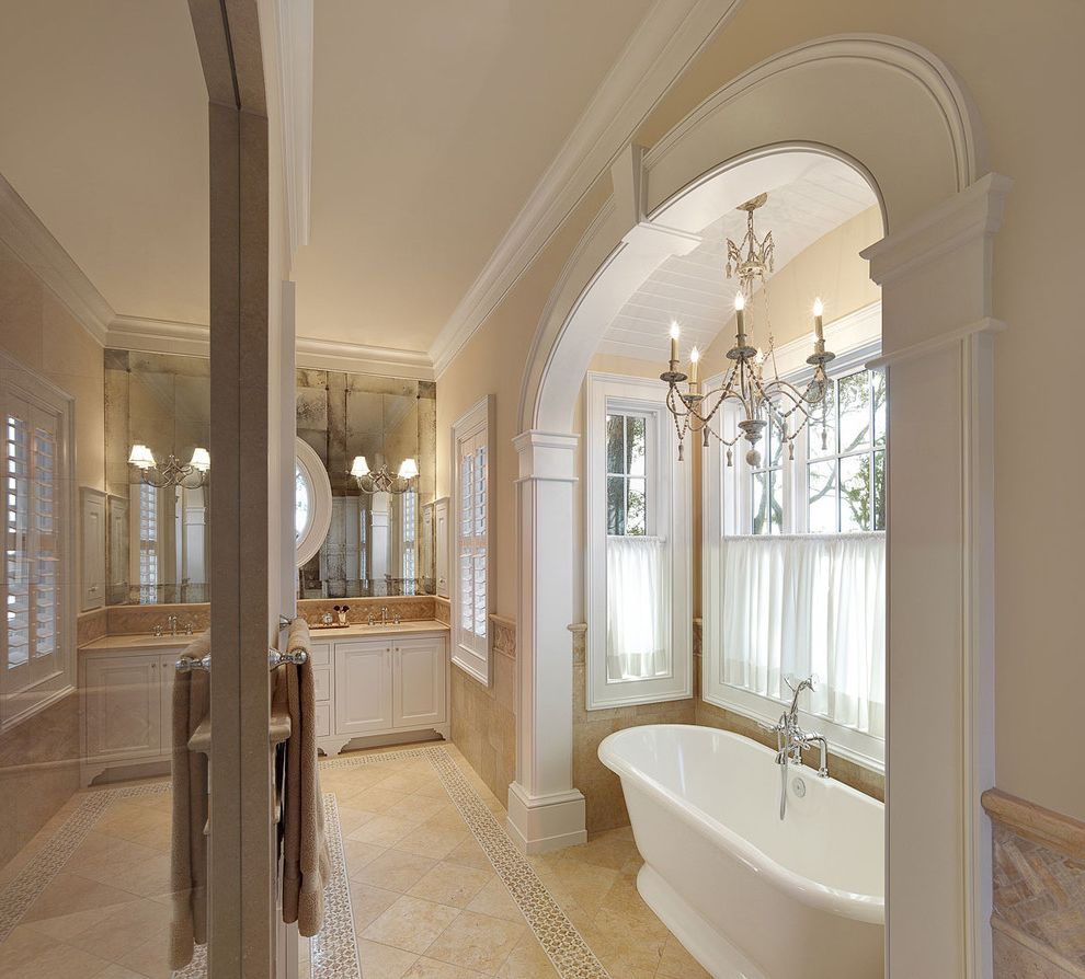 Arch Accenuates Tub In Master Bath $style In $location