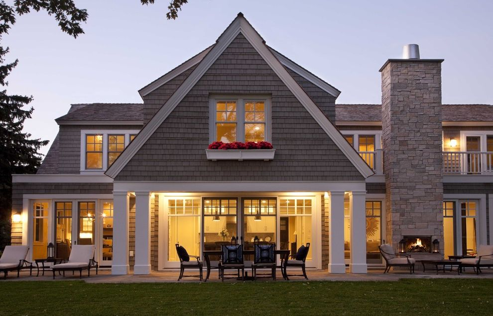 Back Porch Additions   Contemporary Exterior Also Cape Cod Contemporary Gable Modern Modern Shingle Style Shingle Style