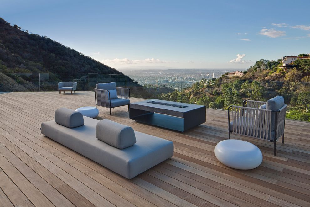 Baers Furniture Orlando   Contemporary Deck Also City View Contemporary Patio Furniture Fire Pit Glass Fence Glass Railing Large Deck Los Angeles