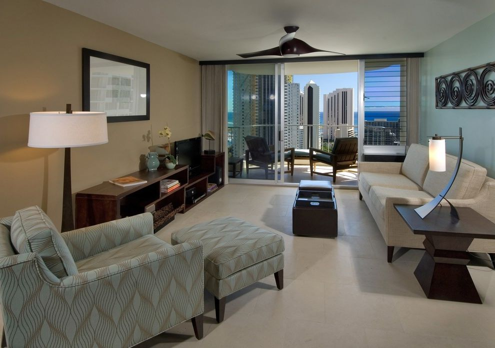 Baers Furniture Orlando   Contemporary Living Room Also Balcony Blue Wall Contemporary Hawaii Sleek Tropical
