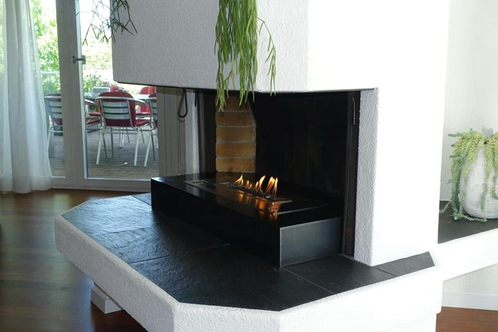 Bio Tech Pest Control with Modern Family Room  and Automatic Bio Burner Automatic Burner Bio Burner Ethanol Burner Ethanol Fireplace with Remote Fireplace with Remote Controller