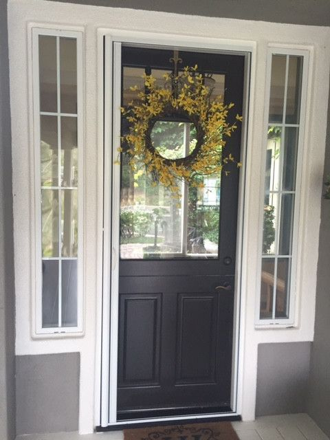Bio Tech Pest Control with Traditional Spaces  and Dutch Door Retractable Screen Dutch Entry Door Retractable Screen Dutch Front Door Screen