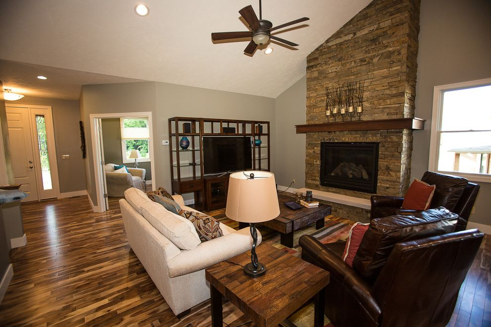 Bradington Young Recliner Reviews   Transitional Living Room  and Acacia Wood Arts and Crafts Cottage Craftsman Custom Fireplace Custom Home Mission Stone Stone Fireplace Traverse City