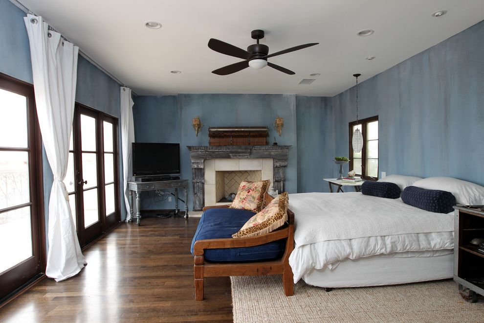 Playa Del Rey Mediterranean Master Bedroom With Fireplace Remodel $style In $location