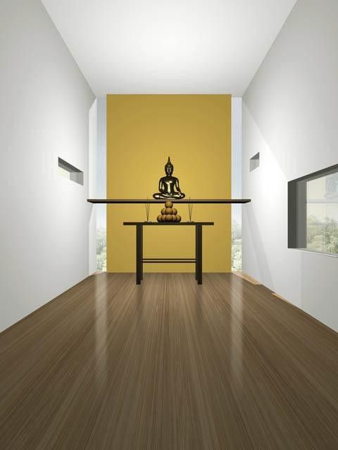 Corepower Yoga Austin with Contemporary Entry  and Art Work Buddha Chinese Color Entrance Entrance Hall Entry Ethnic Foyer Modern Picture Table Window Wood Floor