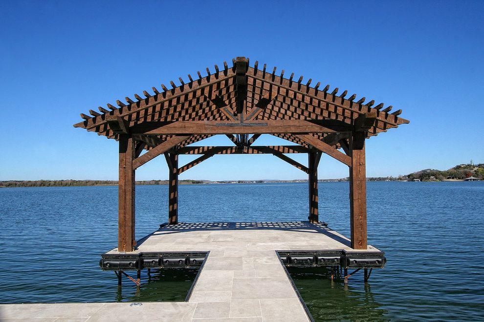 Corepower Yoga Austin with Mediterranean Deck  and Dock Lake Lake House Patio Waterfront