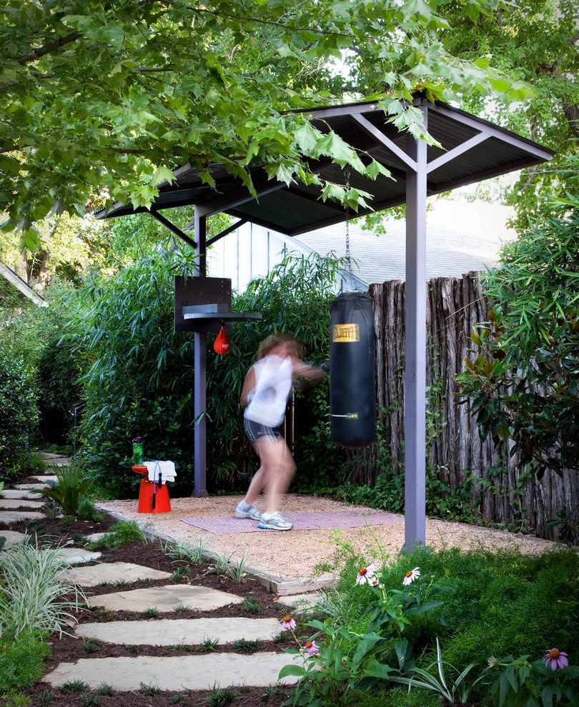Corepower Yoga Austin with Traditional Landscape  and Boxing Boxing Gym Fence Gravel Landscape Metal Fabrication Outdoor Stone Stonework