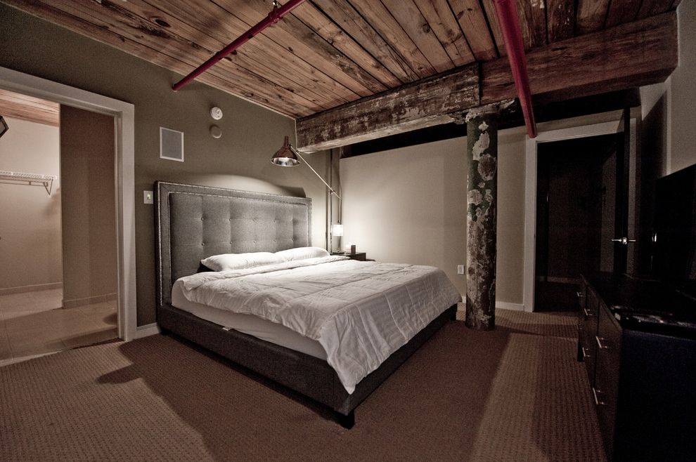Cotton Mill Lofts   Industrial Bedroom Also Industrial