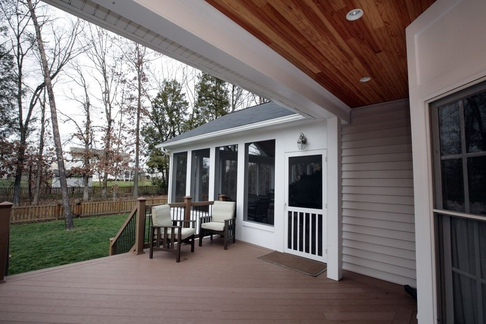 Custom Designed Deck & Screened Porch In Chantilly, Va $style In $location